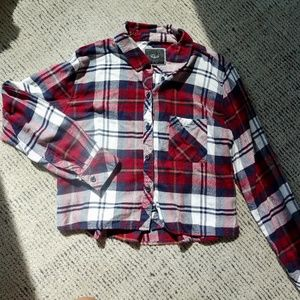 Cropped INTERMIX Flannel